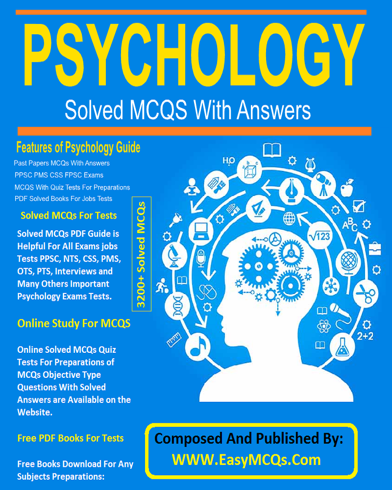 Psychology MCQs PDF Book By Dogar Publishers - Easy MCQs