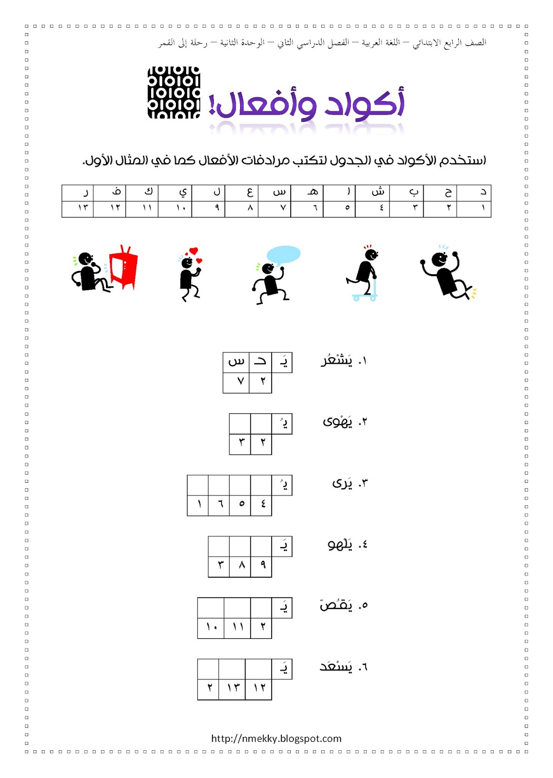 Nermeen S Blog Arabic Worksheets