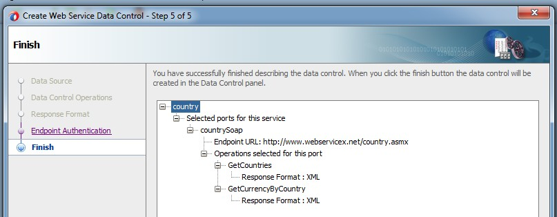 Consuming a SOAP Web Service quickly using Web Service Data Control