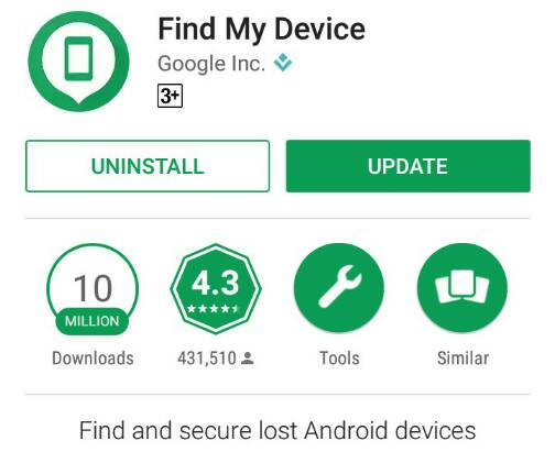 Find my device app