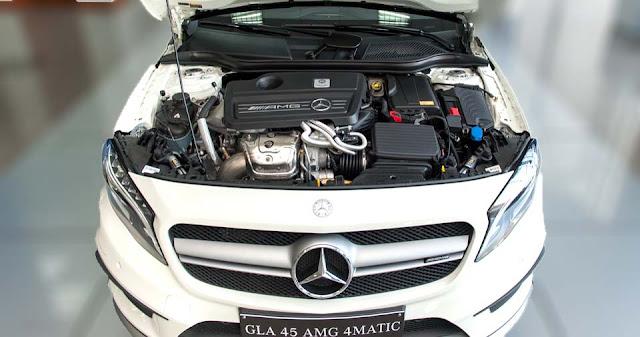 Động cơ Mercedes AMG GLA 45 4MATIC 2017 vận hành mạnh mẽ và vượt trội