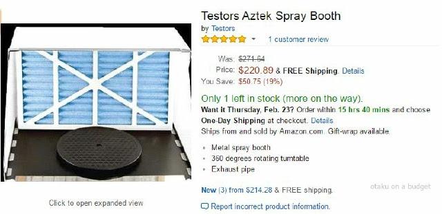 Otaku On A Budget Diy Compact Spraybooth