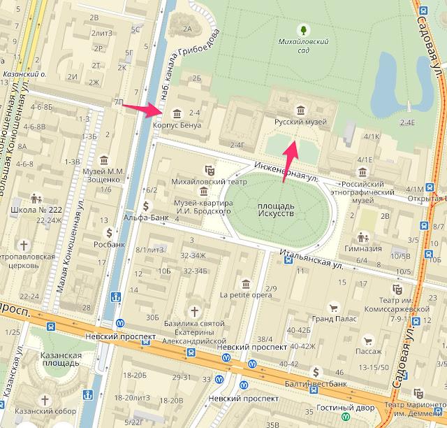 Русский музей на карте