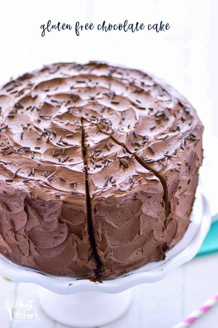 This is the best gluten free chocolate cake recipe out there. It's moist, rich, and incredibly easy to make. There's a dairy free option too!