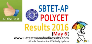 Polytechnic Results, appolycet, Andhra Pradesh Polycet 2016 Results, Manabdi AP Polycet Results and Ranks 2016
