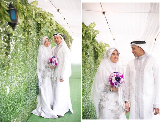 Wall lawn garden wedding Malaysia