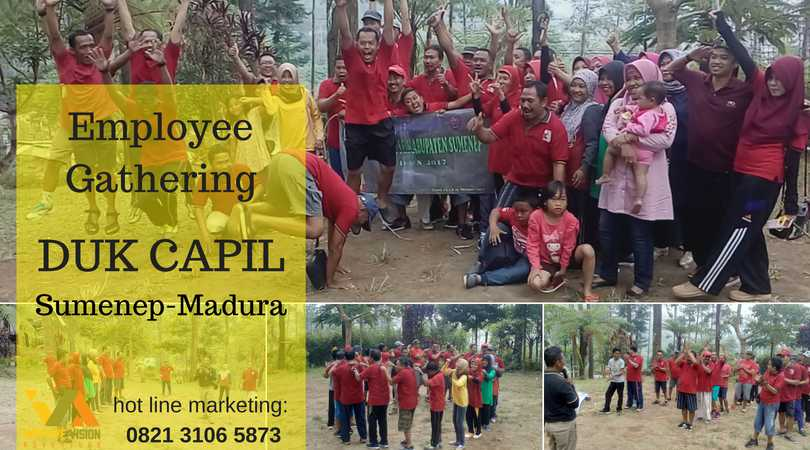 employee gathering duk capil sumenep madura wisata outbound pacet improve vision