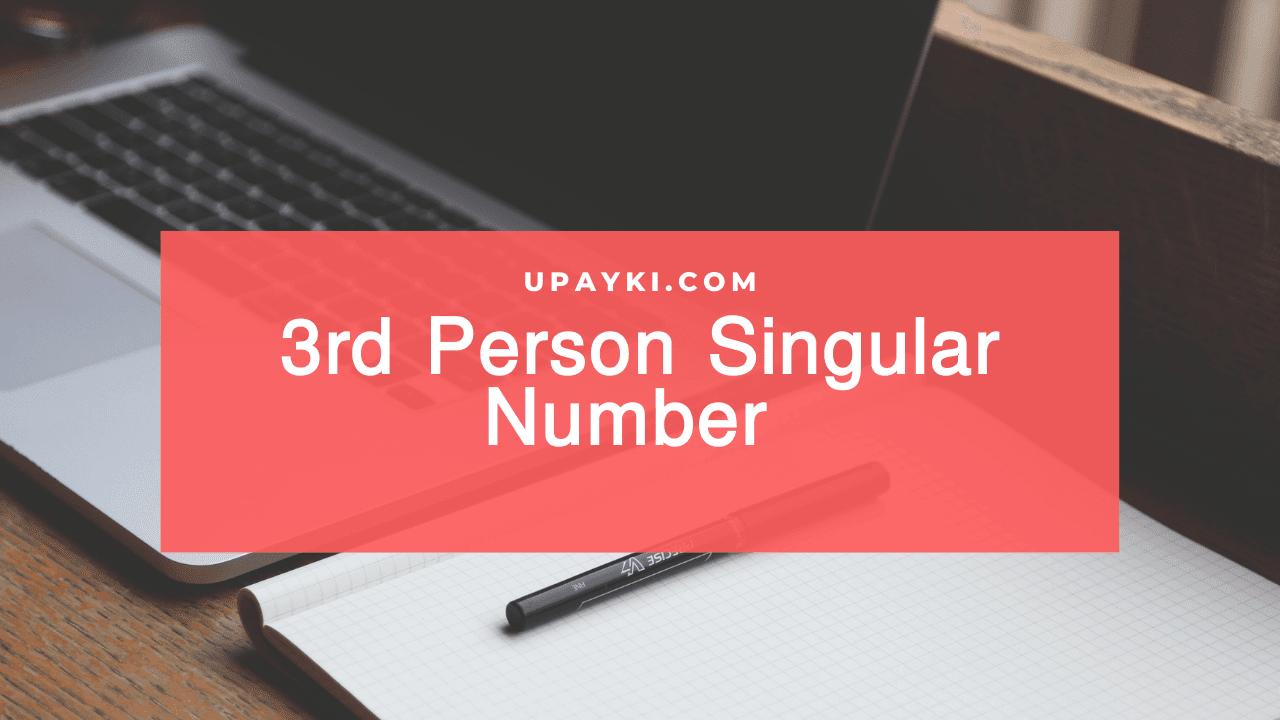 Third person singular number কী এবং কি কি