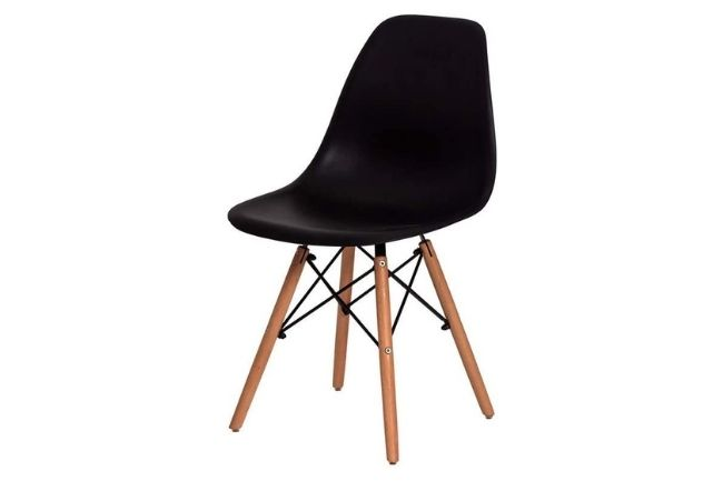 Cadeira Charles Eames Eiffel Preta Base da Futura Design