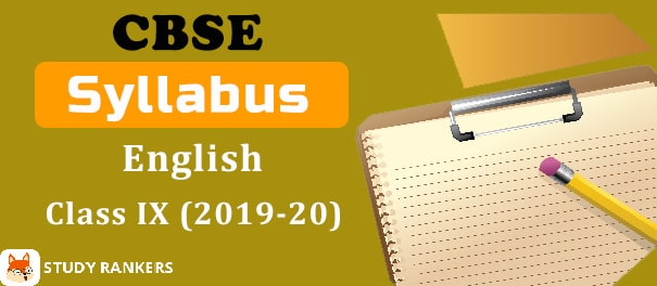 CBSE Class 9 English Syllabus 2019-20