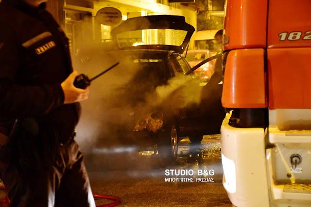 Φωτιά σε αυτοκίνητο στην Ερμιόνη Αργολίδας