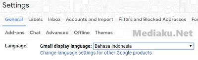 Mengganti Bahasa Gmail Menjadi Indonesia