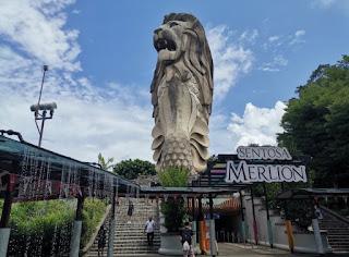Merlion de la Isla de Sentosa o Sentosa Island, Singapur o Singapore.