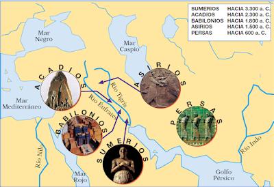 Resultado de imagen para ubicación de los pueblos de mesopotami