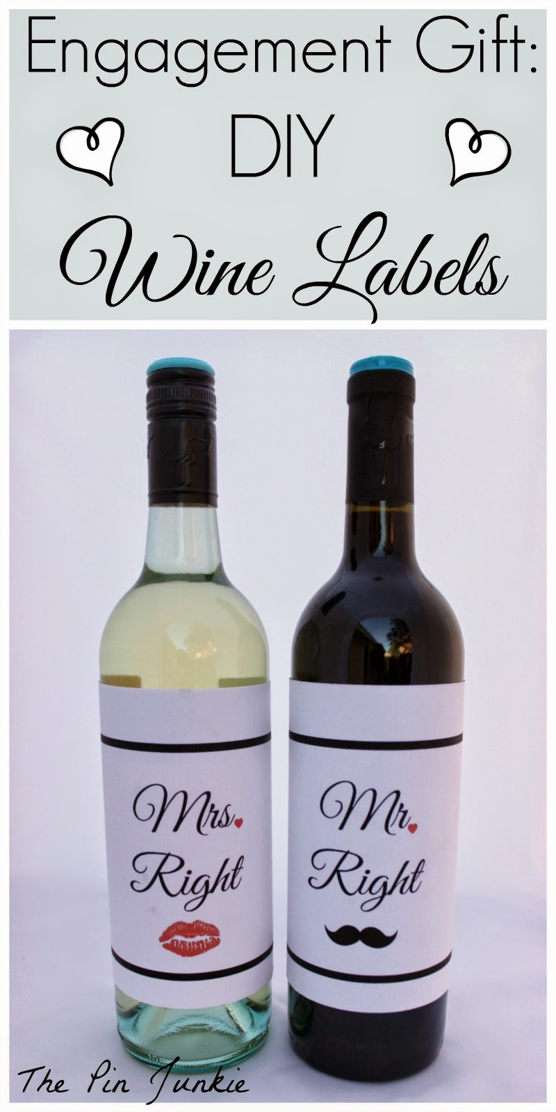 Engagement Gift: DIY Wine Labels