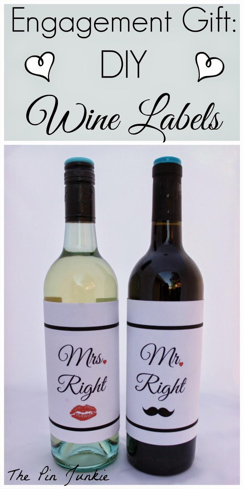 Engagement Gift: DIY Wine Labels