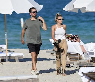 София Ричи на пляже в Майами