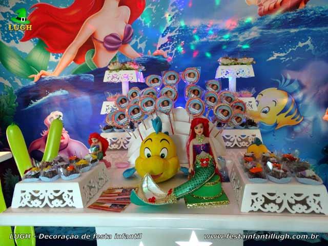Decoração de festa infantil Pequena Sereia - Ariel - Aniversário feminino