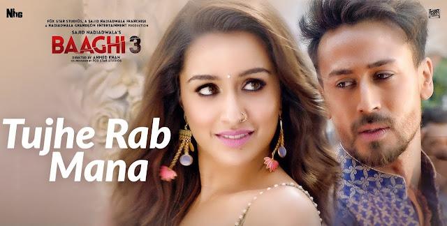 Tujhe Rab Mana Lyrics - Baaghi 3