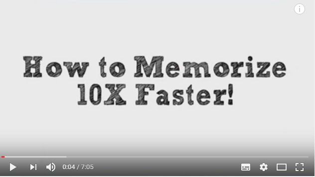 How to Memorize Fast and Easily for your exams - Top Tips