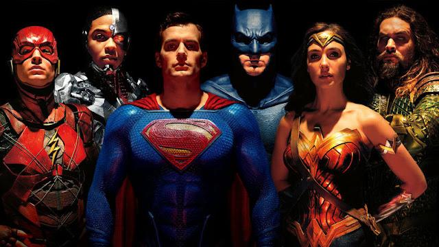 Imagen de los personajes de Liga de la Justicia al completo