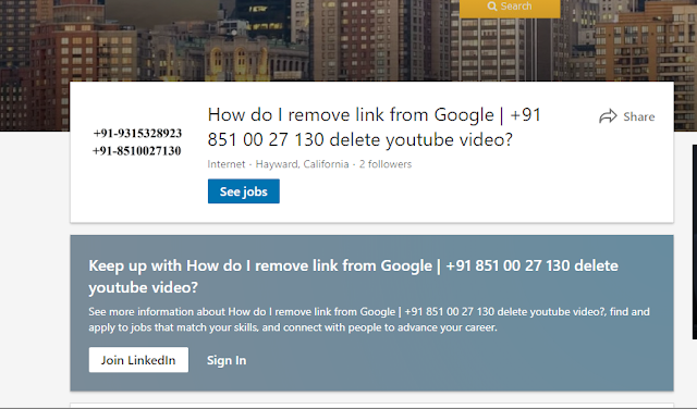 remove link from google