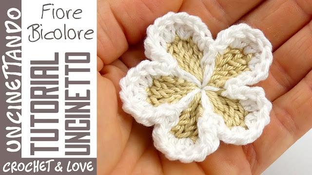 Paso a Paso de Flor Bicolor Tejido a Crochet