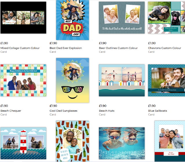 a variety of designs of cards for fathers day