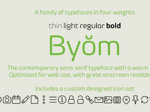 Download Byom Typeface & Icon Set Free