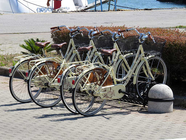 Benetti service or courtesy bicycles bicycles, port of Livorno