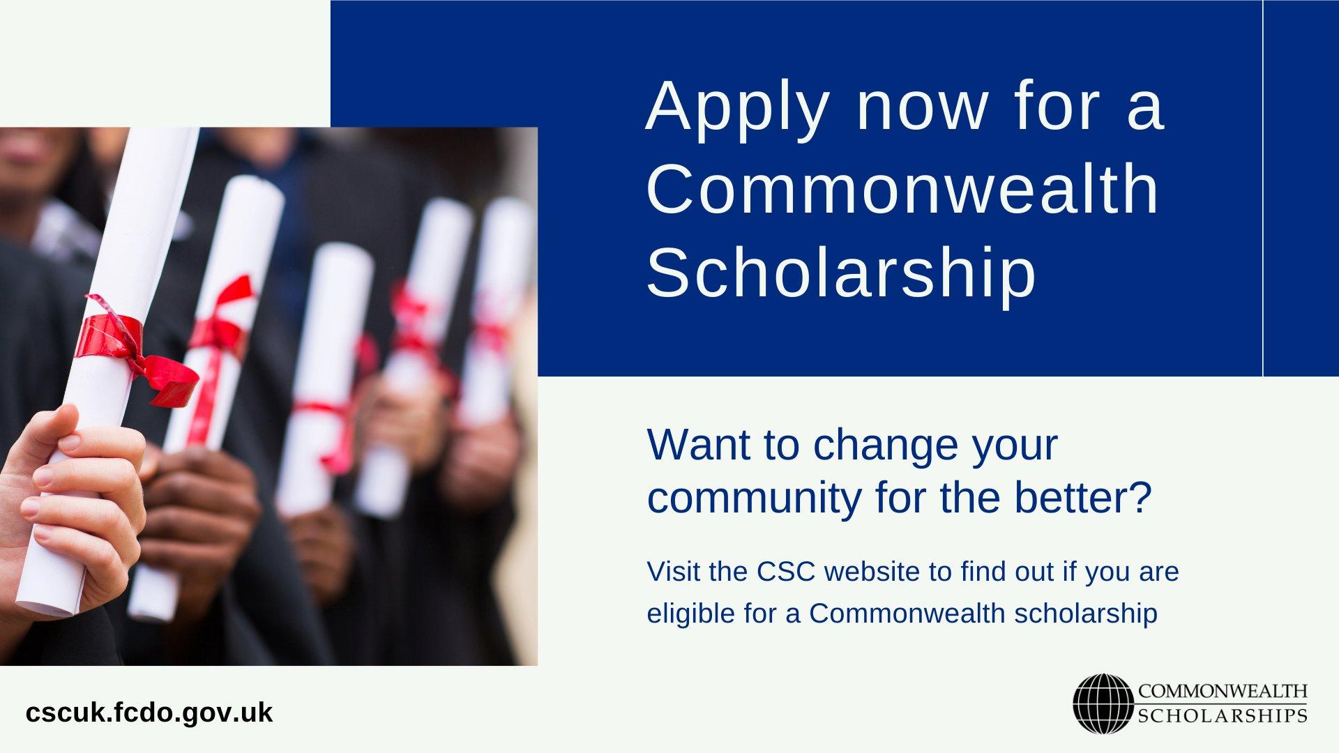Bourses  du Commonwealth 2021/2022 pour les étudiants des pays en développement du Commonwealth