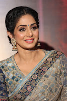 Sri Devi in designer saree stunning beauty at the launch of MOM movie Trailer~  Exclusive 121.JPG