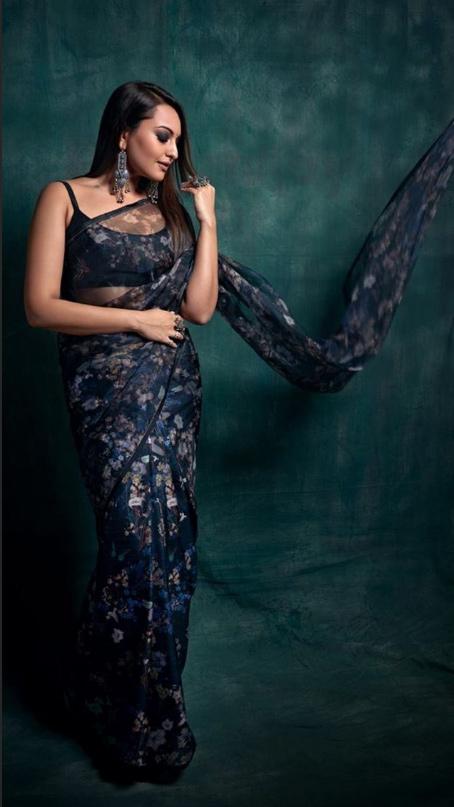 Dabangg 3 actress Sonakshi Sinha in saree