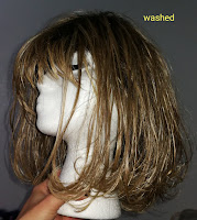 wash hairpieces shake dry use fabric softener as conditioner