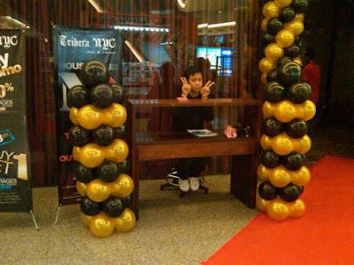 Dekorasi Standing Balon ultah sweet 17 tahun