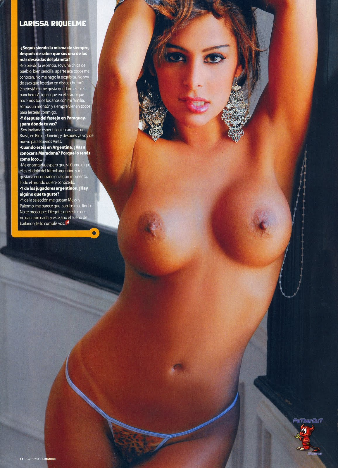 Larissa Riquelme Topless Again For H Extremo Best Free Pussy And