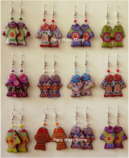 Earrings in fish shape, bright colors