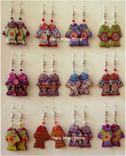 Earrings in fish shape, bright colors