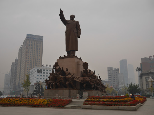 Mao Zedong statue at Zhongshan Square in Shenyang, China