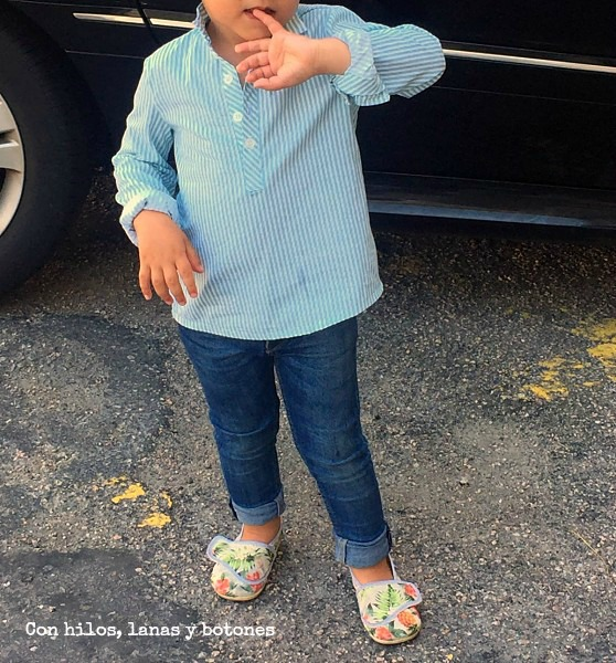 Con hilos, lanas y botones: camisa mar (patrón mamacosesola)