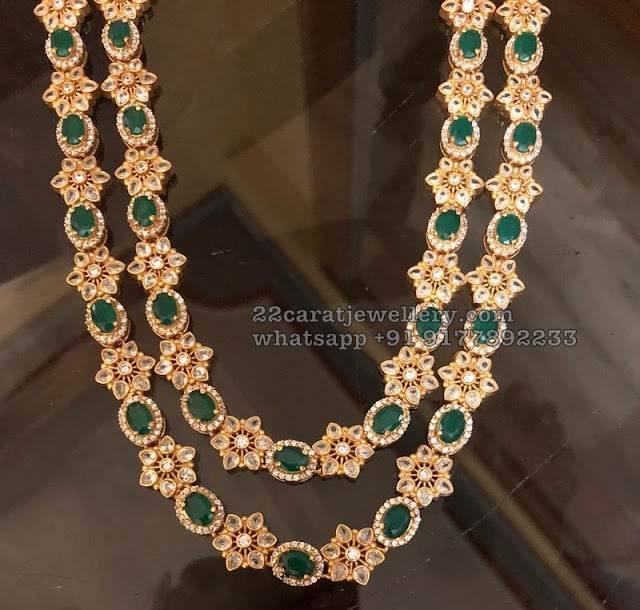 925 Silver CZ and Spinal Emerald Chokers