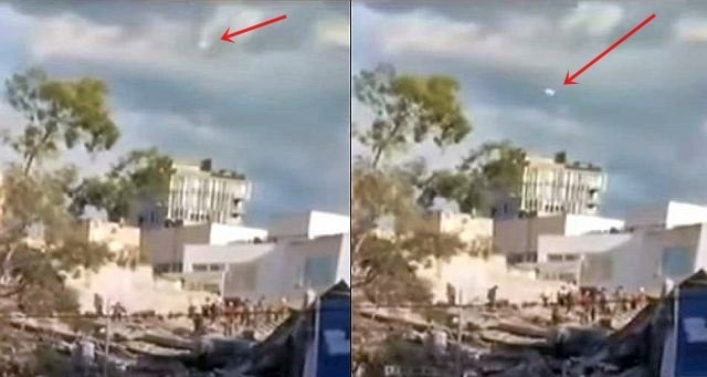 UFO News ~ UFO appears over Mexico 7.1 Earthquake during Live TV News plus MORE Ufo%2Bearthquake%2Bmexico%2B2017