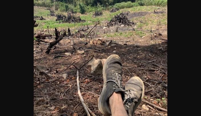 Tunjukkan Foto Sepatunya yang Kotor, Rocky Gerung Sindir Jokowi?