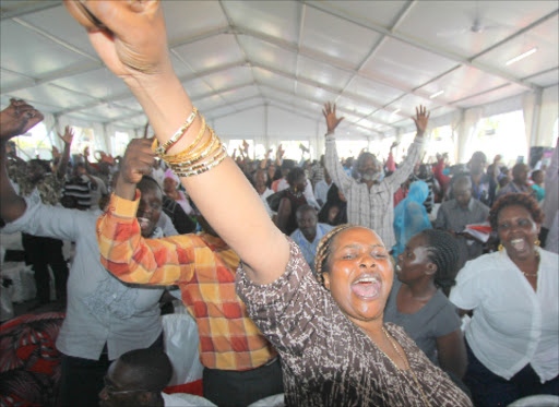 MCAs celebrate in Mombasa after President Uhuru Kenyatta said they would get car grants. Photo