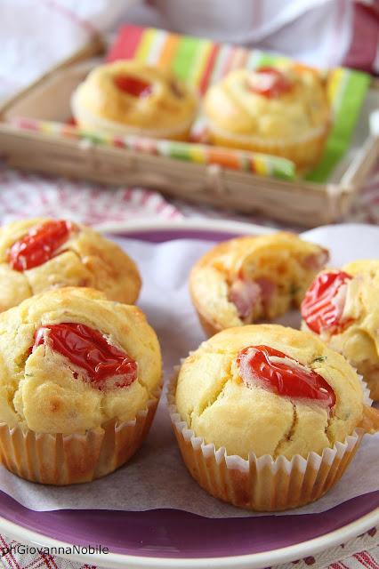 Muffin con bacon Lenti, parmigiano