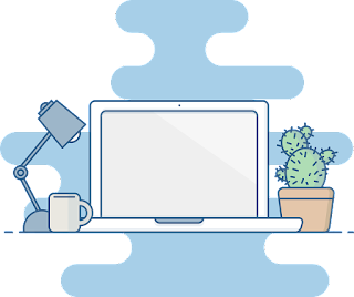 Gambar vektor ilustrasi laptop