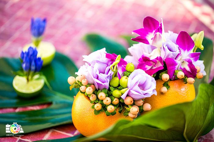composizione floreale ispirazione brasile