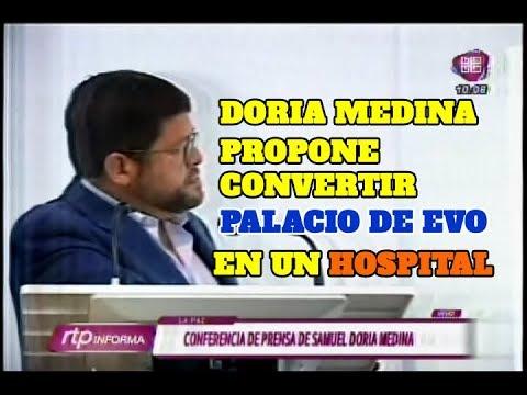 DORIA MEDINA PROPONE CONVERTIR EL PALACIO DE EVO EN HOSPITAL