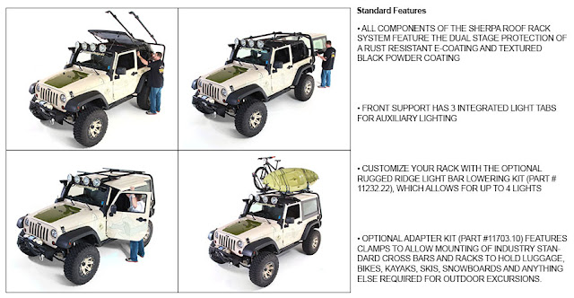 Jeep Wrangler Roof Rack Features