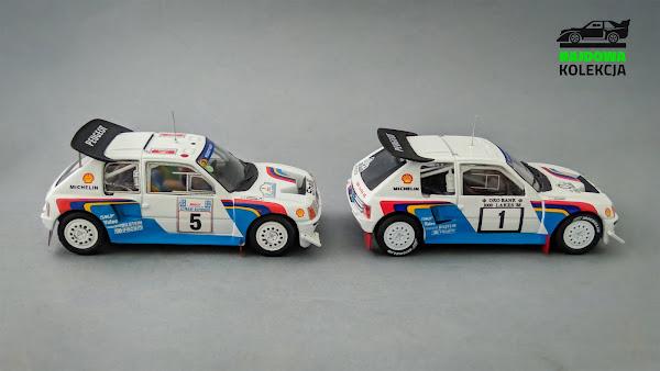 IXO RAC119 vs Altaya, Peugeot 205 T16 E2